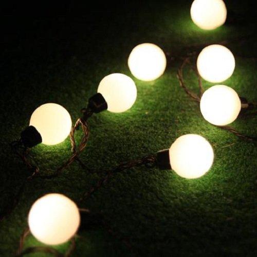 led lichterkette mit 50 kugeln warmwei partylichterkette gartenbeleuchtung top ebay. Black Bedroom Furniture Sets. Home Design Ideas
