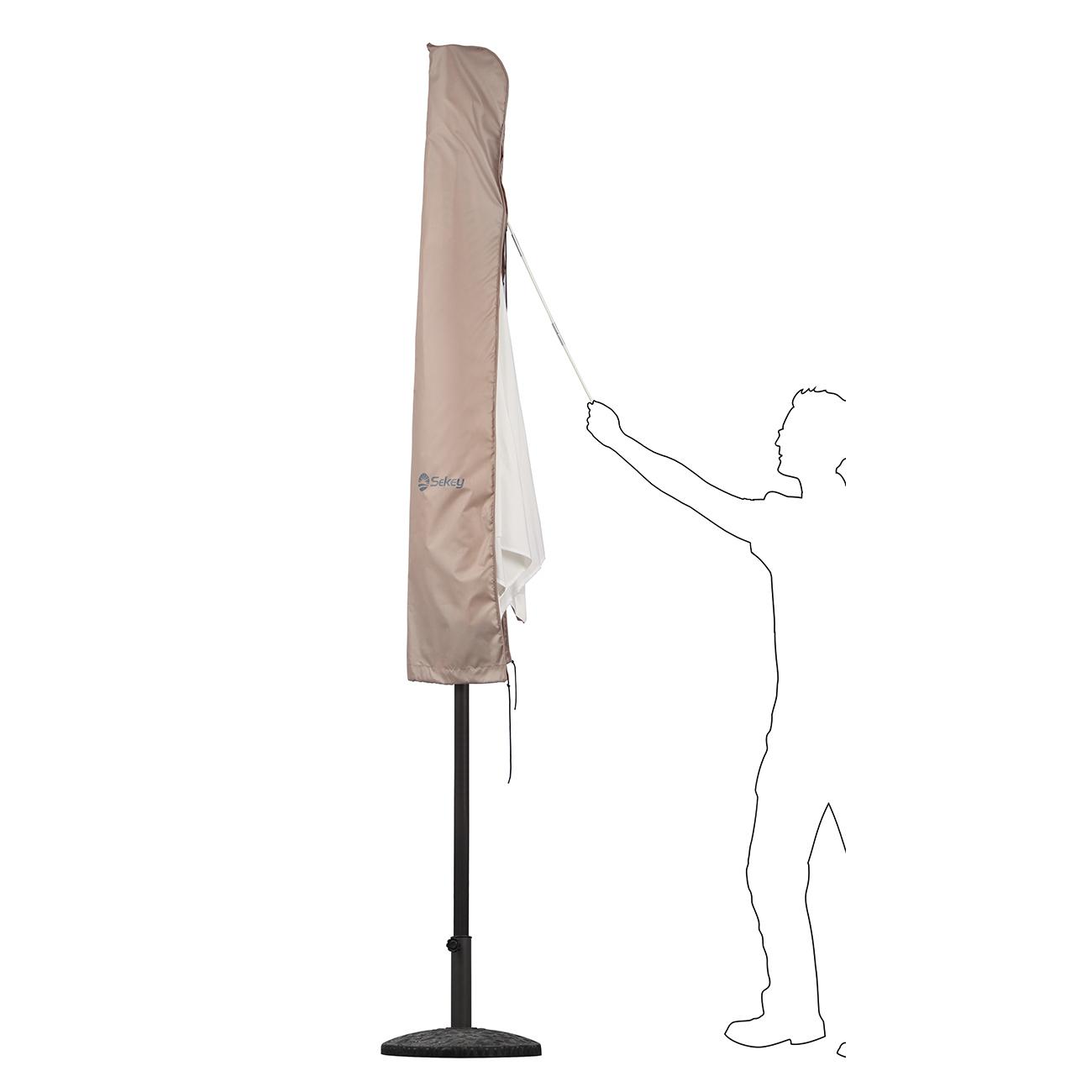 schutzh lle f r ampelschirm sonnenschirm schirm schutzhaube h lle taupe 3m ebay. Black Bedroom Furniture Sets. Home Design Ideas
