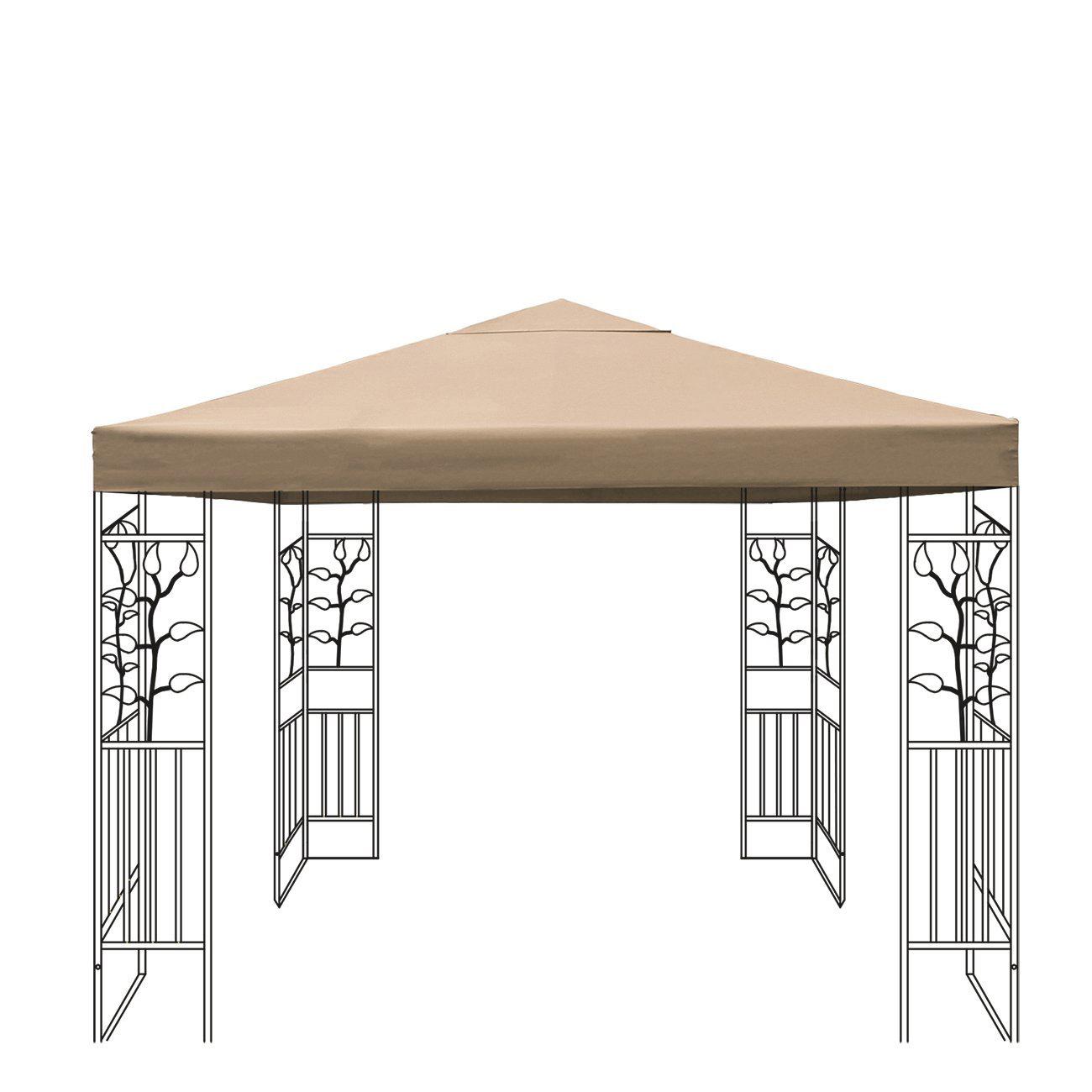 wasserdicht pavillon dach dachplane ersatzdach ersatz. Black Bedroom Furniture Sets. Home Design Ideas