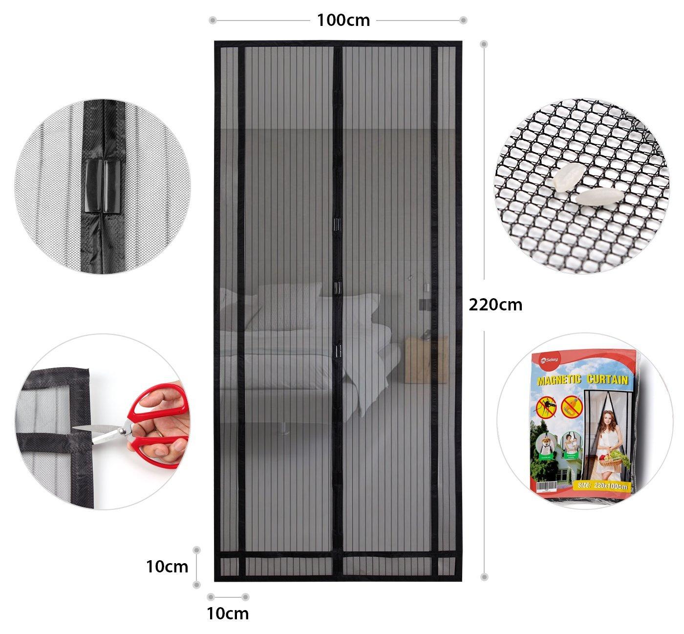 moskitonetz f r t r fliegengitter fliegennetz insektenschutz magnetverschluss ebay. Black Bedroom Furniture Sets. Home Design Ideas
