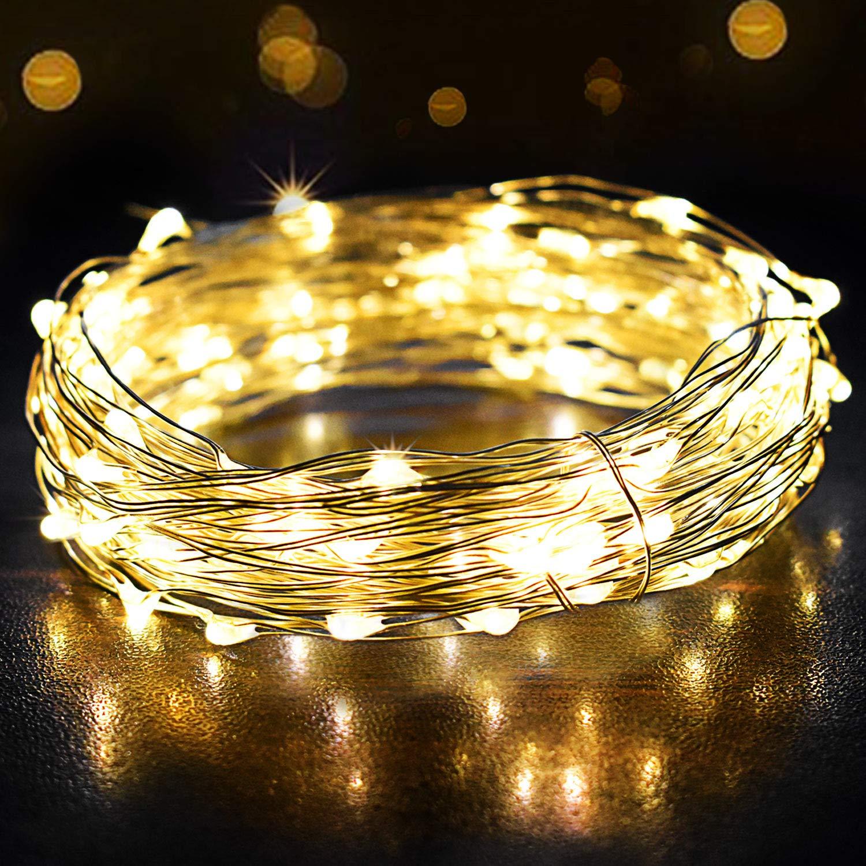 10m led draht lichterkette weihnachten party dekodraht dekoration beleuchtung ebay. Black Bedroom Furniture Sets. Home Design Ideas