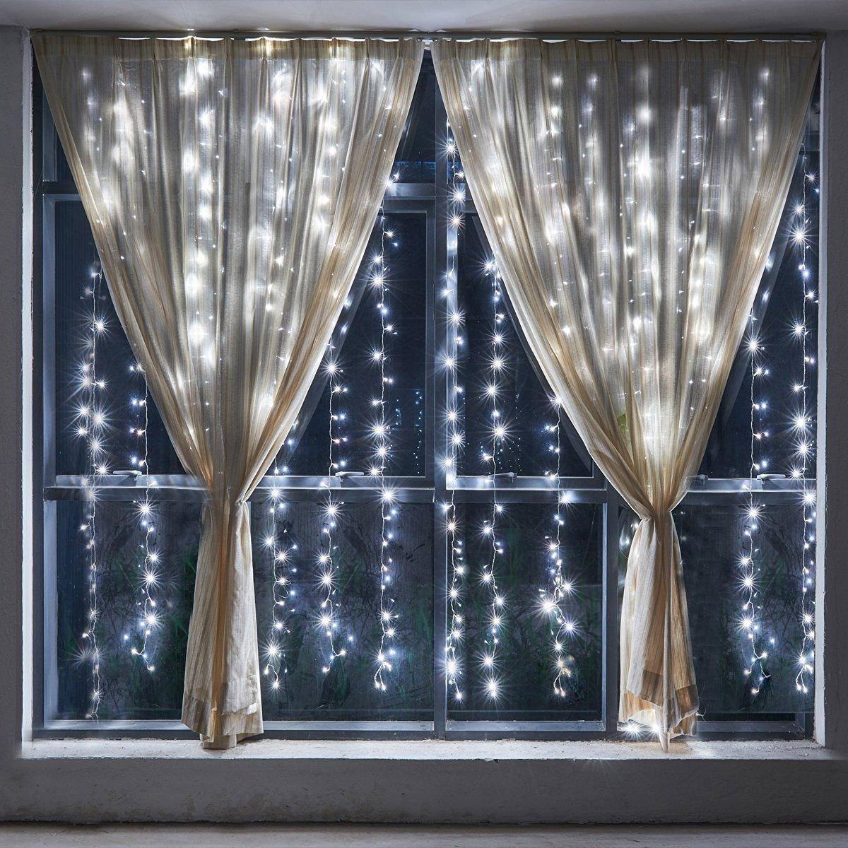 3x3m 300led lichternetz vorhang au en innen lichter netz. Black Bedroom Furniture Sets. Home Design Ideas